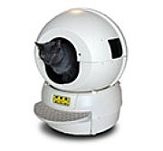 picture of a self cleaning cat litter box, robot litter box.